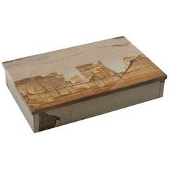 "Small Pietra Paesina ""Landscape Marble"" or ""Ruin Marble"" Box"