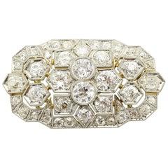 Art Deco Diamond and Gold Brooch