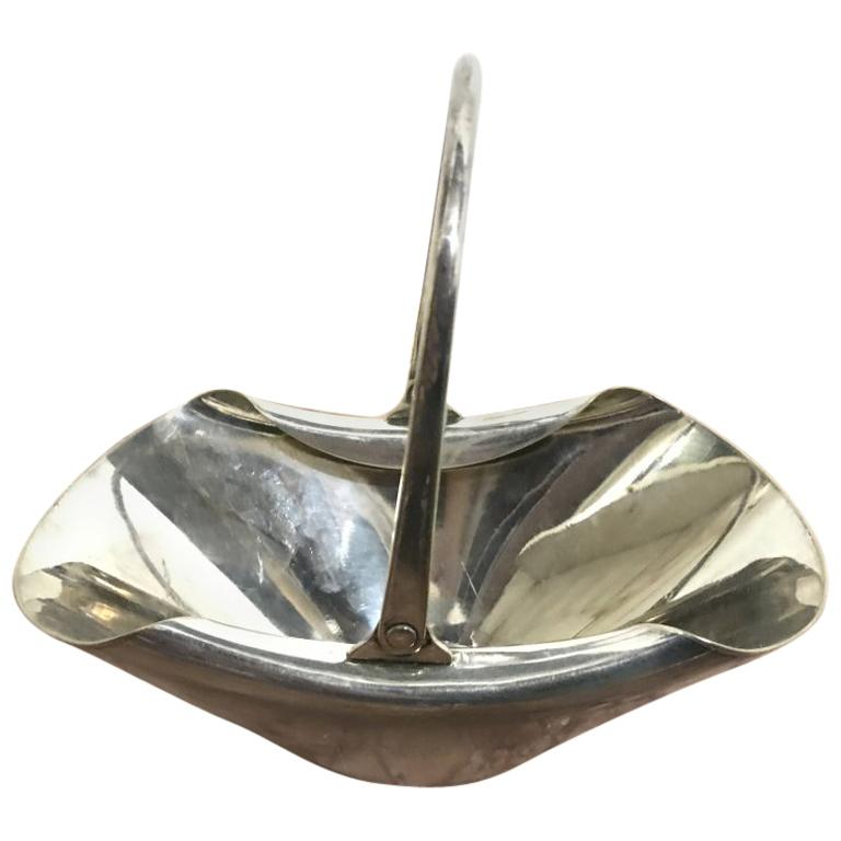 Dr Christopher Dresser, Hukin & Heath, a Silver Plated Handled Sweet Meat Dish