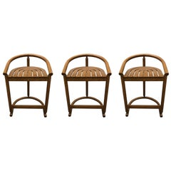 Set of Three Midcentury Bar Stools