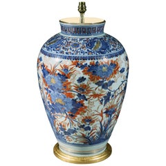 19th Century Large-Scale Chinese Imari Vase Now Mounted as a Lamp