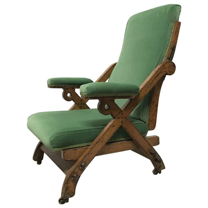 Charles Bevan Marsh Jones U0026 Cribb, Gothic Revival New Registered Reclining  Chair For Sale