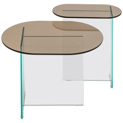Vetro Dark Bronze Side Table