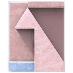 Contemporary Photography Relief, George Byrne, Peach Wall with Purple, 2018