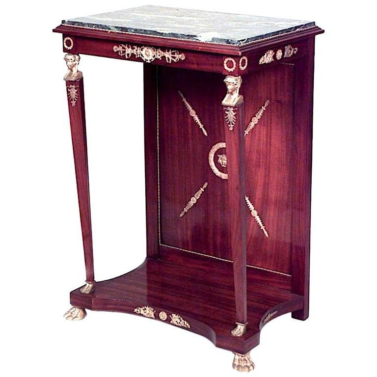 French Empire Style Mahogany Console Table