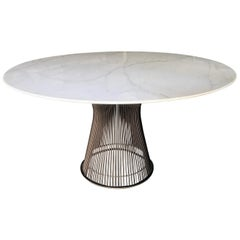 Vintage All Original Warren Platner for Knoll Dining Marble Table
