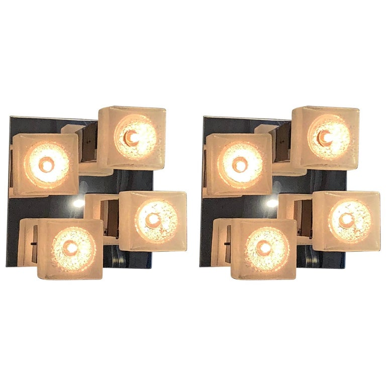 Pair of Sconces by Gaetano Pesce, Italy, 1970s For Sale