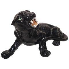 Distinguished Porcelain Panther Statue
