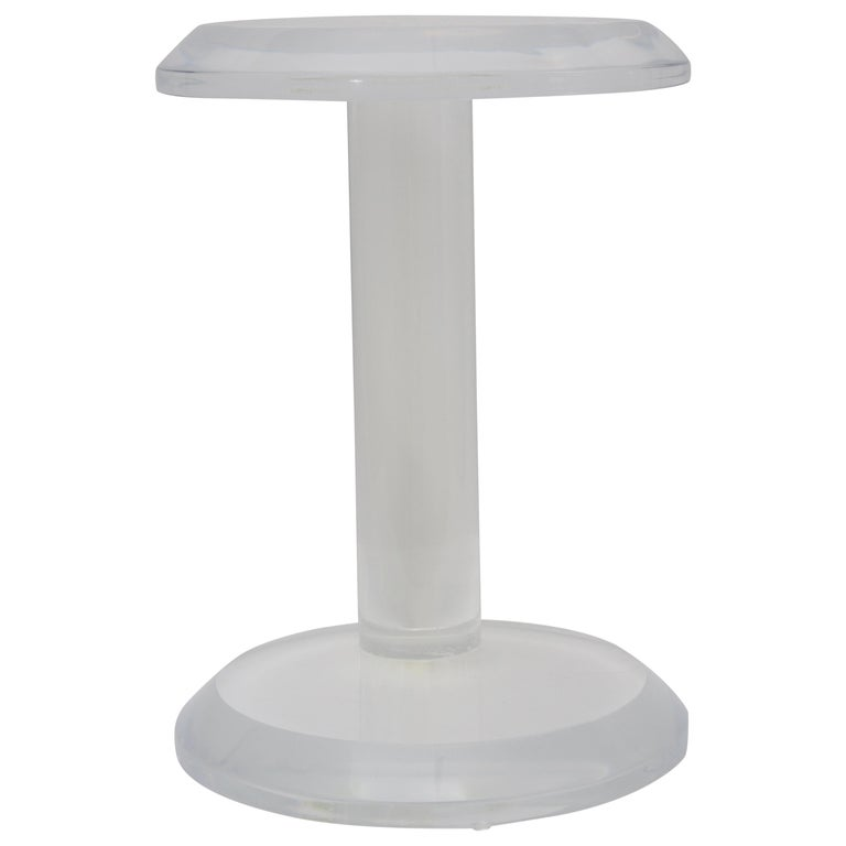 Round Lucite Side Table