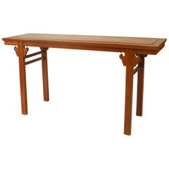 "Asian Chinese Style Hardwood Console ""Altar"" Table"