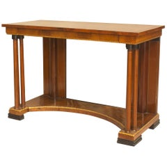 Russian Neoclassic Style Mahogany and Brass Console Table