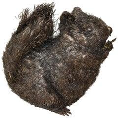 Italian Silver Fuzzy Animal Figure of a Squirrel by Buccellati