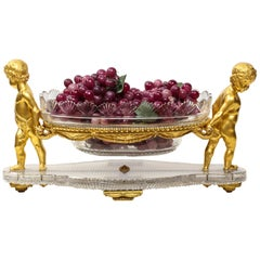French Ormolu and Cut-Glass Centerpiece by Baccarat Paris, circa 1870