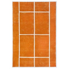 """Court Series"" Clay Court Rug by Pieces, Hand-Tufted Colorful Sporty Carpet"