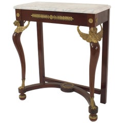 French Empire Style '19th-20th Century Mahogany Console Table