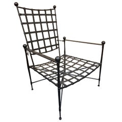 Wrought Iron Reclining Armchair by Mario Papperzini for Salterini