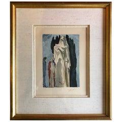 "Salvador Dali Artist Proof Woodblock Print Divine Comedy Inferno #10 ""Heretics"""