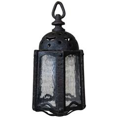 "French ""Moorish"" Wrought Iron Lantern"