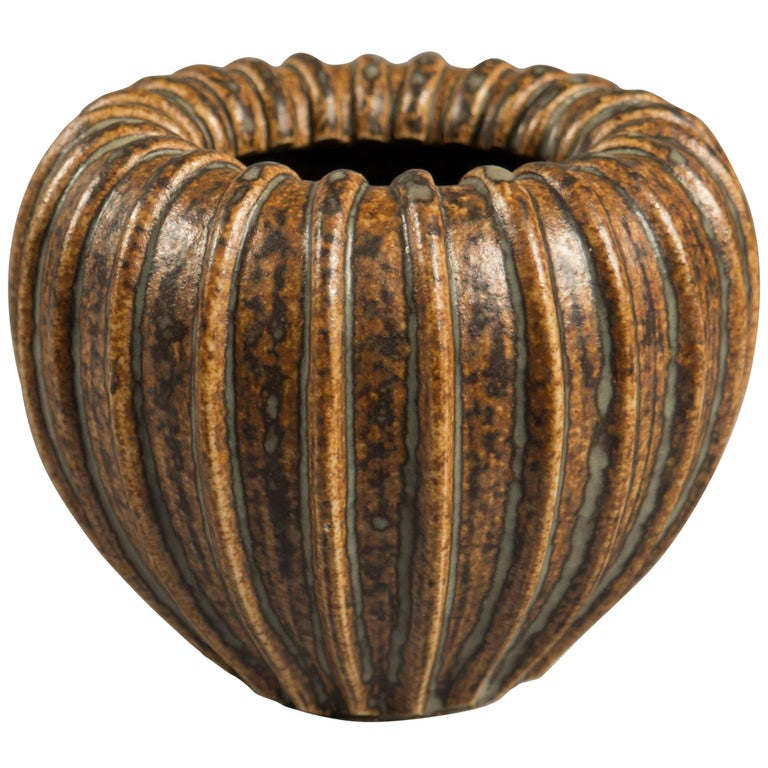 Stoneware Vase by Arne Bang, Denmark, 1950s For Sale