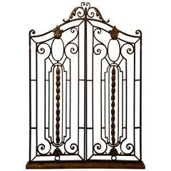 Pair of Antique French Wrought Iron Gates, circa 1880