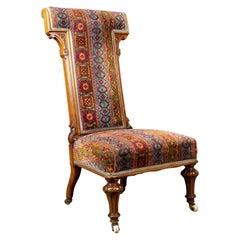 Antique Prie Dieu Chair, 19th Century, Regency, Walnut, Bedroom Side, circa 1820