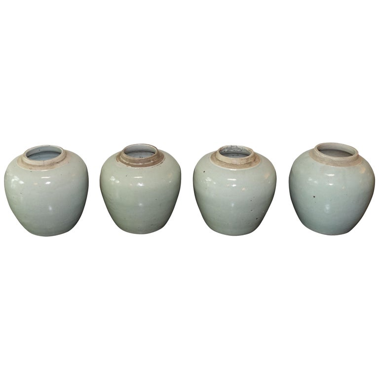 Small Pale Turquoise Pots, China, Contemporary