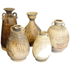18th Century Collection of Handmade Vases, Cambodia