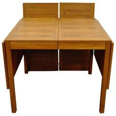 Vintage Midcentury Danish Modern Vejle Stole Teak Extension Leaf Dining Table
