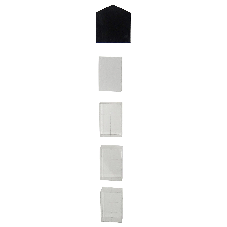 Epitafos and Etapas 1-4, Plexiglass Wall Sculpture Series