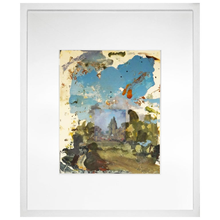 Untitled, Framed Oil Painting Collage