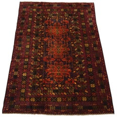 Fine Black Afghan Tribal Area Rug