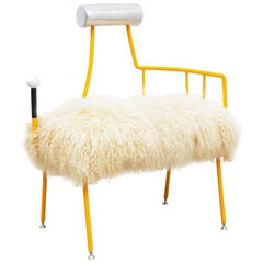 Jonathan Trayte, High Desert Chair, Steel, Bronze, Birch, Leather, 2018