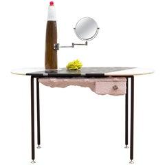Jonathan Trayte, Pink Mondi and Bomba Lamp, Vanity, Table, Marble, Granite, 2018
