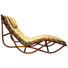 Art Deco Rattan Chaise Lounge