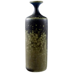 Rolf Palm, Mölle, Unique Art Pottery Vase. Swedish Design, 1980s