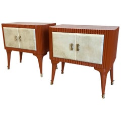 Michel Dufet Attributed to Art Deco Nightstands, France, 1930s
