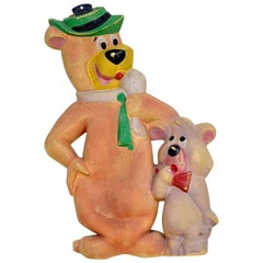 1960s Vintage Hanna-Barbera Yogi Bear and Boo-Boo Hot-Water Bottle Made in Spain