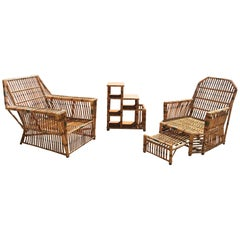 Antique Ficks Reed Stick Rattan Set