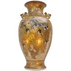 Important Satsuma Baluster Vase