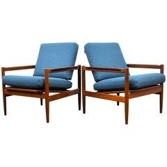 Børge Jensen & Sønner Teak Lounge Chairs, Set of Two