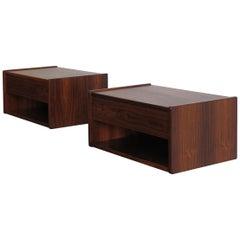 19606 Scandinavian Mid-Century Modern Rosewood Bedside Tables
