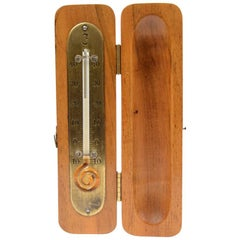 Wooden Travel Thermometer Made in the 1920s