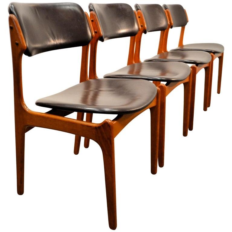 Erik Buck Teak Dining Chairs, Set of Four