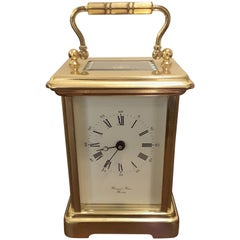 Brass Carriage Clock by Bornand Freres, England