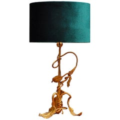 Gilt Art Nouveau Branch Table Lamp, Early 20th Century