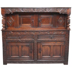 Mid-17th Century Oak Court Cupboard