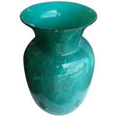 20th Century Italian Blue Glass Vase