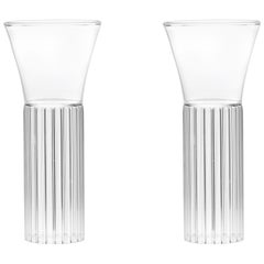 Set of Two Czech Clear Contemporary Sofia Small Cocktail Wine Glasses, in Stock