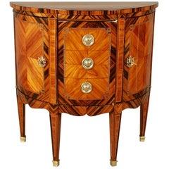 Louis XVI Demilune Marquetry Cabinet, circa 1770