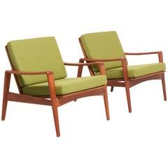 Pair Easy Chairs in Teak by Arne Wahl Iversen, 1960s